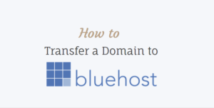 How to Transfer a Domain to Bluehost