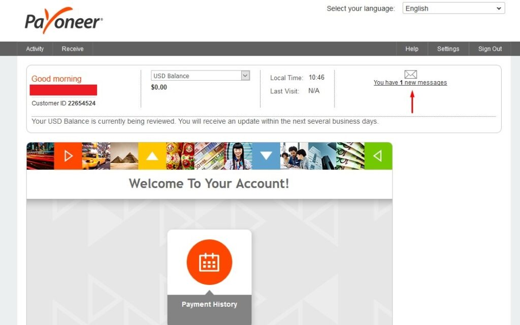 This is your Payoneer account